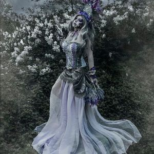 Upcycled purple goddess costume